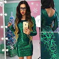 Красивое платье  с блестящим напылением АМС-1712.095(2)