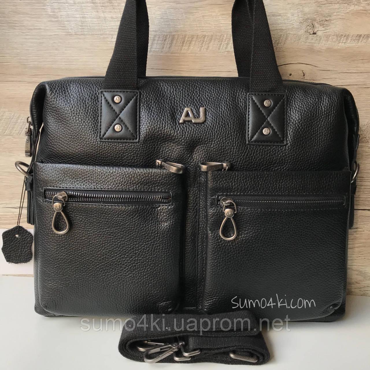 66f8cd175e38 Купить Мужской большой кожаный портфель Armani Армани оптом и в ...