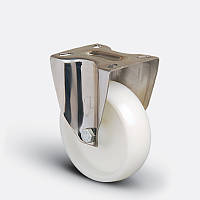 Нержавеющее неповоротное колесо диаметром 80 мм из полиамида нагрузка 120 кг