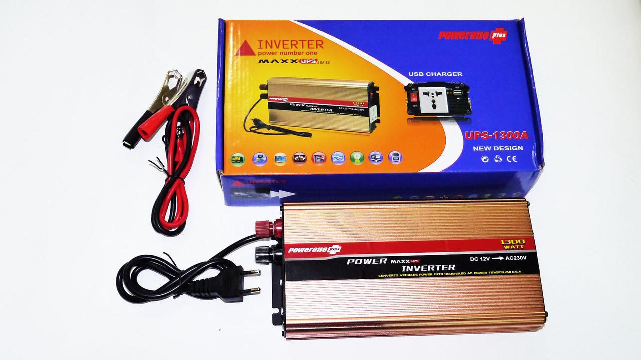 Инвертор Powerone 1300W с Зарядкой 12V 220V