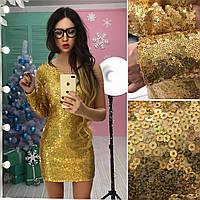 Шикарное платье на одно плечо из паеток в расцветках АМС-1712.097(2), фото 1