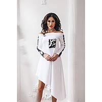 Платье женское с пайеткой Ассиметрия 455
