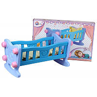 Кроватка - колыбель большая с бельем в коробке   ТЕХНОК