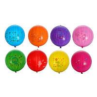 """Воздушные шарики """"Панч-бол ассорти с рисунком - мишки с сердцем  18""""  50 шт."""