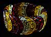 Браслет з бурштинової смоли , кольоровий, бумеранг