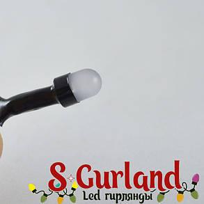 """Гирлянда LED """"Нить"""" (String) 100LED линза, 8 мм. 10м, чёрный провод, разноцветная, уличная, фото 2"""