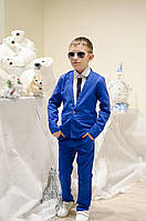 Стильный Костюм Лен брюки и пиджак на мальчика № 2196 е.в