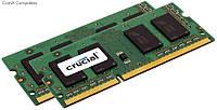 So-DIMM DDR3 16Gb 1866Mhz Crucial Kit 2*8Gb (CT2KIT102464BF186D), PC3-14900, 204Pin 1.35V
