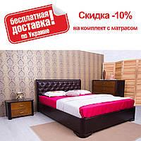 Кровать полуторная Милена мягкая ромбы подъемный механизм 140 Олимп