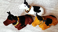 Игрушка коровка с живой головой