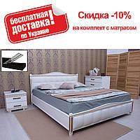 Кровать полуторная Прованс патина квадраты подъемный механизм 140 Олимп