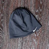Спортивная шапка серая nike