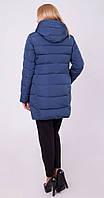 Куртка средней длины цвета волны