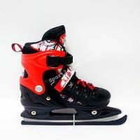 Ледовые коньки Scale Sports раздвижные, Красные (31-34), (35-38)