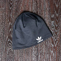 Спортивная шапка серая adidas  реплика