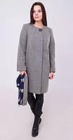 Пальто средней длины темно-серое