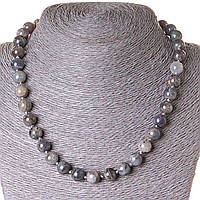 Бусы из натуральных камней Лабрадор, круглые бусины Код:368128253