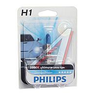 Лампа накаливания H1 12V 55W P14,5s Diamond Vision 5000K 1шт blister (производство Philips) (арт. 12258DVB1), ACHZX