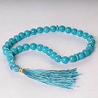 [30] Четки из натурального камня Голубая Бирюза Код:368130549
