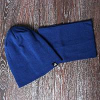 Спортивная шапка синяя adidas + горловик (бафф) 7631e953a4810