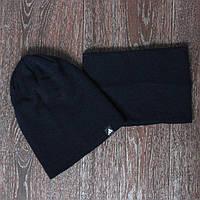 Спортивная шапка черная adidas + горловик (бафф) 637a79b0891b3