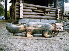 Wooden garden  sculpture