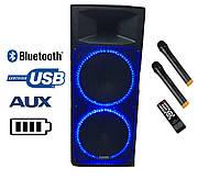 Аккумуляторная колонка с радио-микрофонами A215-08 / 400W(USB/Bluetooth/FM)