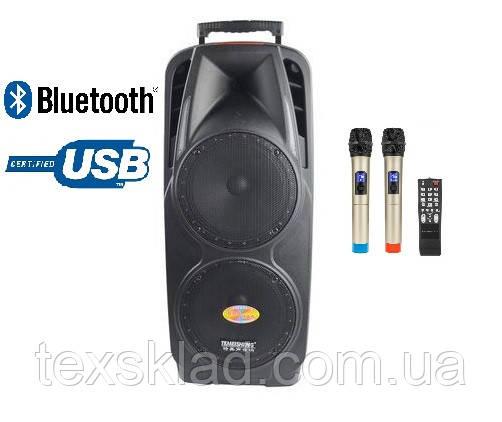 Портативная акустика на два динамика с микрофонами A73 Bluetooth, FM