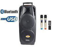 Портативная акустика на два динамика с микрофонами A73 Bluetooth, FM, фото 1