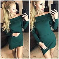 Женское платье с открытыми плечами 1046 Ол Код:604104421