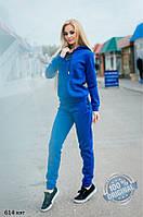 Спортивный теплый костюм на шнуровке 614 кэт Код:609424400, фото 1