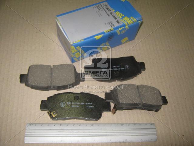 Колодка тормозная TOYOTA YARIS/VITZ 1# -RS/PLATZ 99-06, PROBOX/SUCCEED 02- FRONT (производство MK Kashiyama) (арт. D2174M), ACHZX