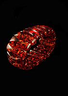 Браслет из янтарной смолы,коричневый, фигурка