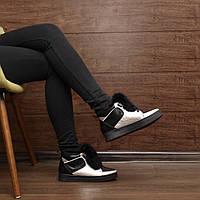 Женские зимние ботинки на шнуровке модель 7229.1