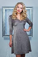 Красивое облегающее блестящее платье Азорина