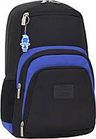 Рюкзак для ноутбука Bagland Freestyle 21 л. Чорный/электрик (0011966)