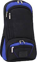 Рюкзак для ноутбука Bagland Granite 23 л. Чорный/электрик (0012066)