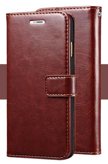 Кожаный чехол-книжка для  Lenovo P780 коричневый