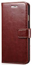 Кожаный чехол-книжка для  Lenovo P780 коричневый, фото 3