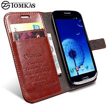 Кожаный чехол-книжка для Samsung Galaxy S3 i9300 черный, фото 3