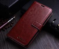 Кожаный чехол-книжка для Samsung Galaxy Note 8 коричневый