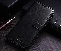 Кожаный чехол-книжка для Samsung Galaxy Note 8 черный