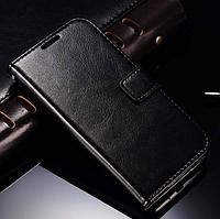 Кожаный чехол книжка для Samsung Galaxy S4 mini i9190 черный