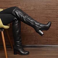Женские зимние сапоги на толстом каблуке модель 7083.2