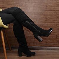 Женские зимние сапоги на толстом каблуке модель 7083.1