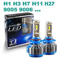 LED лампы Turbo T1 2шт. 3800Lm. H1, H3, H7, H11, 9005 ... Код:610192401