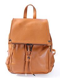 Рюкзак рыжего цвета Massimiliano Incas из натуральной мягкой кожи