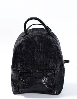 Сумка-рюкзак кросс-боди черного цвета Massimiliano Incas из натуральной кожи