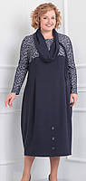 Платье большого размера Novella Sharm-2901 белорусский трикотаж