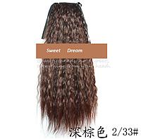 Шиньон, конский хвост, кудрявый, афро-кудряшки, длина - 60 см, цвет 2\33